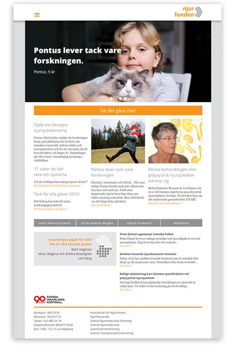 Njurfonden websida