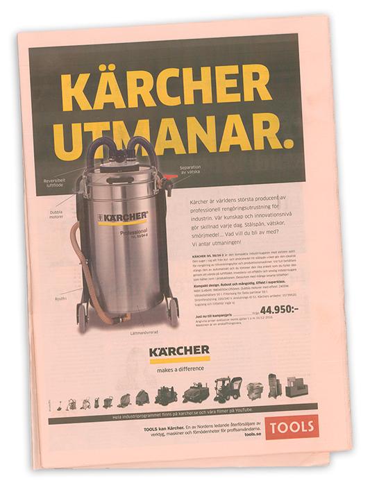 Kärcher annons Dagens Industri 2016