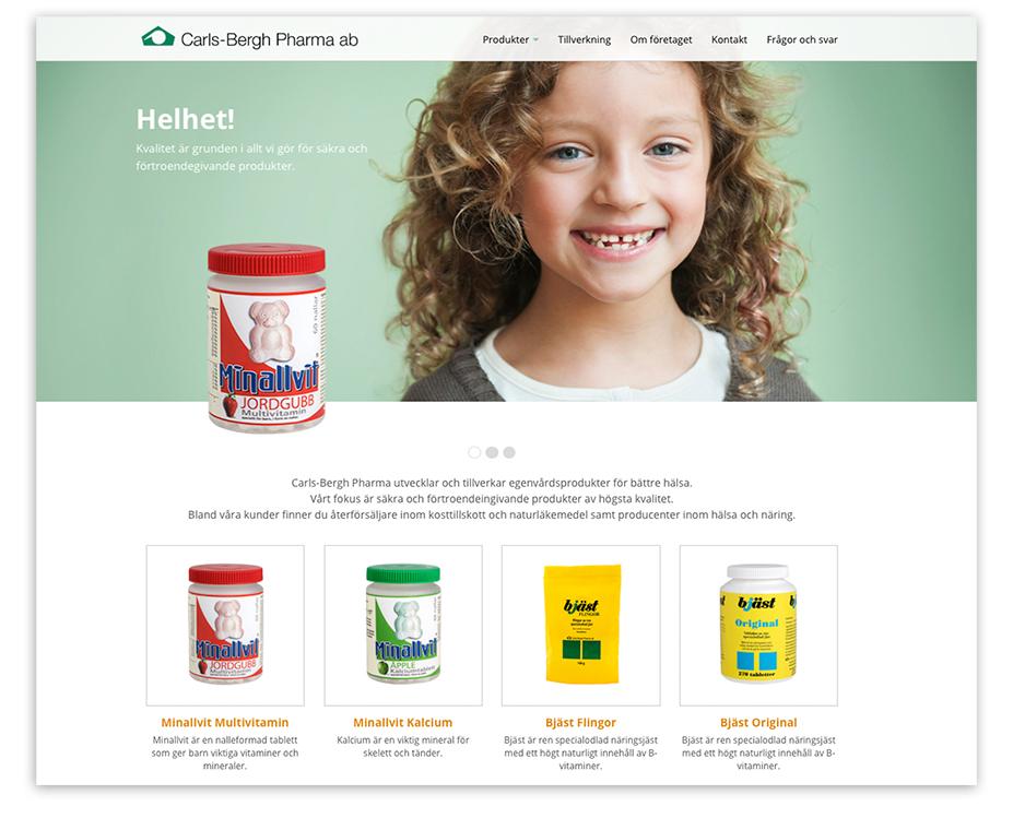 Carls-Bergh Pharma websida